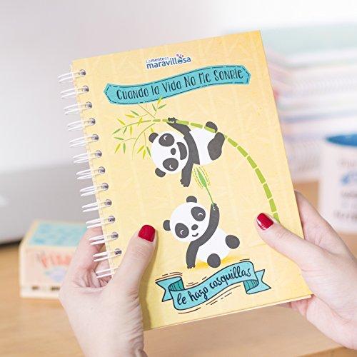 La mente es maravillosa -Cuaderno A5- Regalo para amiga con dibujos - OSITOS-ESP
