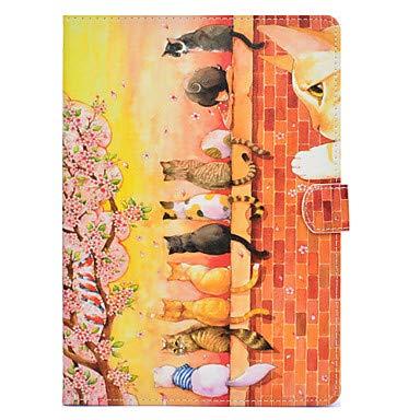 Tablets Fälle & Abdeckungen Hülle Für iPad mini 4 / iPad Mini 3/2/1 Kreditkartenfächer / Stoßresistent / mit Halterung Ganzkörper-Gehäuse Tier Hart PU-Leder für iPad Mini 3/2/1 / iPad Mini 4 (Tier-gehäuse)