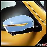 OMAC Nissan Juke F15 Qashqai J11 X-Trail T32 Spiegelblenden 2tlg aus Abs Chrom ab 2014