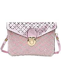 Hawai Stone Work Light Pink Sling Bag For Girls