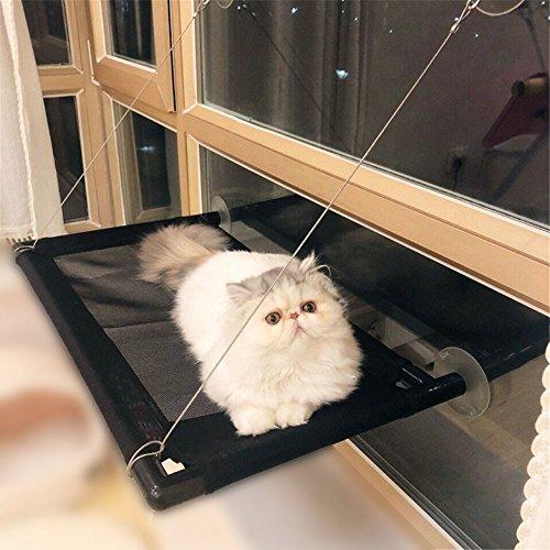 PLQ Amaca gatto cat finestra installazione letto traspirante sedile del sole pet amaca serra calamaro cuscino amaca gatto staccabile, 66x40 cm