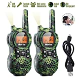 iBaseToy Rechargeable Walkie Talkies for Kids, 22 Channels, Up to 6KM Long Distance