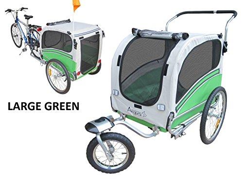 Fahrradanhänger Polironeshop Argo  Anhänger und Wagen für den Transport von Hunden Hund Tiere Wagen Caddy Anhänger Fahrrad Jogger Hundewagen