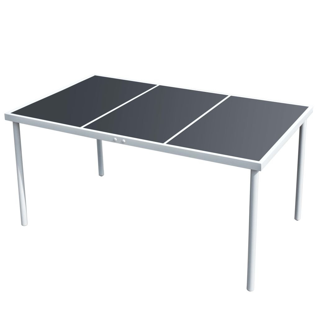 Vidaxl Gartentisch Glasplatte 150 Cm Esstisch Tisch Terrassentisch