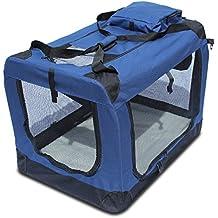 Yatek Transportin para Perros Plegable (60 x 42 x 42cm) entradas Laterales y Superiores