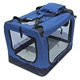 Transportin para perros plegable (60 x 42 x 42cm) Yatek de entradas laterales y superiores con alta visibilidad, confort y seguridad para tu mascota de tamaño M