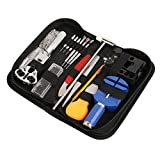 Sopoby Uhrenwerkzeug Set 147tlg Uhrmacherwerkzeug Uhr Werkzeug Tasche Reparatur Set Uhrwerkzeug Gehäuse Öffner in Nylontasche watch tool Test