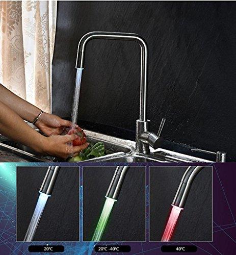 LED temperatura controllo colore acciaio inossidabile 304 rubinetto acqua calda