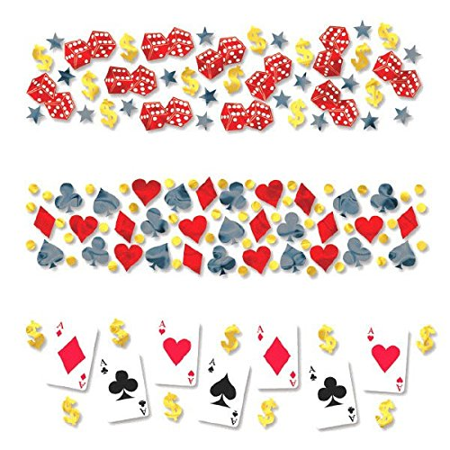 able Casino Value Pack Confetti Konfetti, plastik, mehrfarbig ()