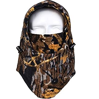 Acid Tactical® Cold Weather Polar Fleece Camouflage Balaclava Full Face mask hood Airsoft -Fall Woodland Camo