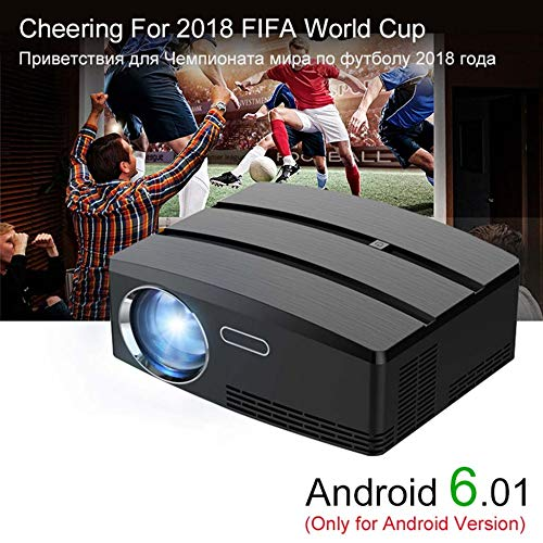 KAIDILA Projektor GP80 Mini Projektor Android 6.01 4k / 2k Wifi Bluetooth Full HD LED Beamer Unterstützung HDMI Miracast Airplay TV