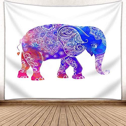mvbmbbc Tapiz de Elefante Mandala Tapiz Indio Colgante de Pared Decoración Impresa Estera de Playa [Enviar Accesorios]