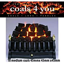 18 Gas Fire Medium Coals Replacement Replacements/Bio Fuels/Ceramic/Boxed in Coals 4 you packaging