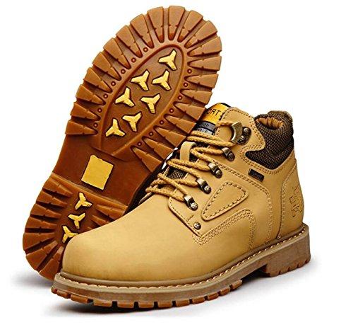 Automne Et Hiver Hommes Haute Aide Big Head Hommes Chaussures Martin Mode Chaud Plus Coton Bottes Jaunesingleshoes