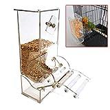 Acryl Pet Parrot Vogel Automatische Käfig Feeder Größe Kleine 7.5 x 15 x 21 cm,mit Barsch Automatische Feeder