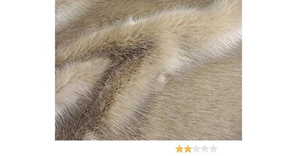 PLUSH SUPER SOFT CREAM Super Luxury Faux Fur Fabric Material