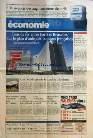 FIGARO ECONOMIE (LE) [No 20011] du 01/12/2008