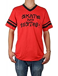 42d0bf7294 Thrasher Skate & Destroy Ringer red/black Camiseta Tamaño L