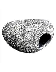 Forfar 3 pcs acuario agua de piedra cichlid Piedra cerámica Cave Rock Acuario fish_tank Pond Decoración del ornamento Cría de camarones