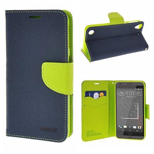 MOONCASE HTC Desire 530/630 Bookstyle Hülle, Premium Klappetui Leder Schutzhülle für HTC Desire 530 / Desire 630 TPU Case Tasche Schale mit Standfunktion Saphir-Grün