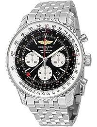 Breitling Navitimer GMT Schwarz Zifferblatt Herren Armbanduhr ab044121/BD24Glückwunschkarte mit Aufschrift