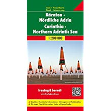 Kärnten - Nördliche Adria, Autokarte 1:200.000, freytag & berndt Auto + Freizeitkarten