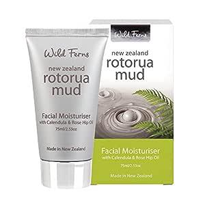Wild ferns New Zealand Rotorua Mud Facial Moisturiser with Calendula and Rose Hip Oil, 75ml