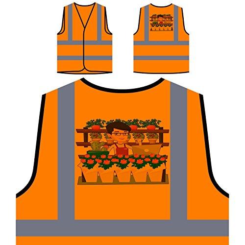 Negozio di fiori online felice personalizzato hi visibilità giacca gilet arancione di sicurezza q561vo