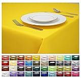 Rollmayer Tischdecke Tischtuch Tischläufer Tischwäsche Gastronomie Kollektion Vivid (Gelb 5, 140x300cm) Uni einfarbig pflegeleicht waschbar 40 Farben