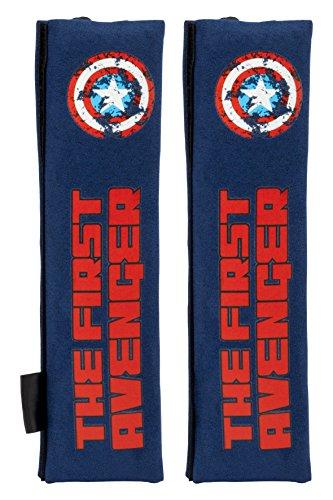 Capitán América CAPA104 Almohadillas, Azul, Set de 2