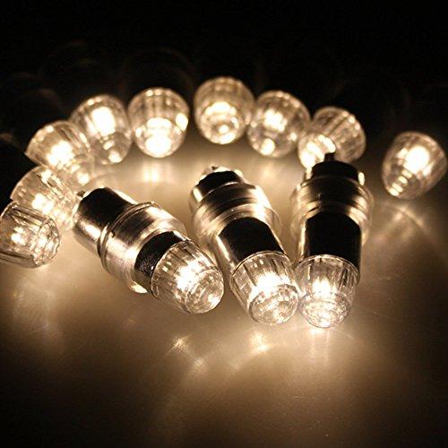 AGPtek® 12 x LED Luftballon Party Lichterkette, Blinkende Lichter für Papierlaternen, Ballons, Blumendekoration, LED Licht, Dekoration, Party, Hochzeit, Wasserfest (Farbe: Warmweiß) Solar-ballon-lichter