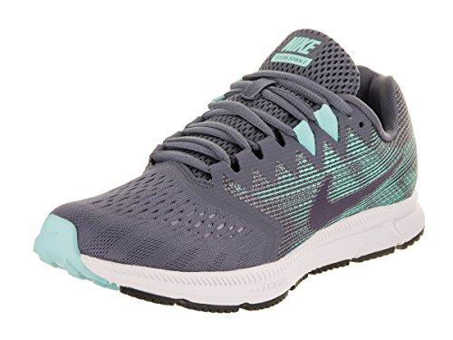 Nike Damen Zoom Span 2 Laufschuhe Grau (Light Carbon/Dark Raisin-Aurora)