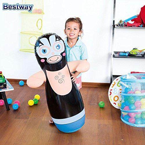 Bestway Wrestling-Figur aufblasbar Kinder Boxsack Standboxsack Punchball Big Bob, Farbe:schwarz