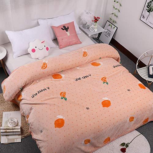 Zengluo bedding coperta caldo copriletti per divano coperta in pile di corallo arancione dolce invernale coperta di flanella spessa dormitorio coperta pelo lenzuola calde arancia 200cmx230cm