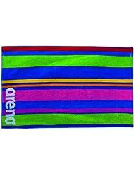 Arena Big Stripes Towel Drap de Bain Mixte Adulte, Multicolour, FR : TU (Taille Fabricant : TU)