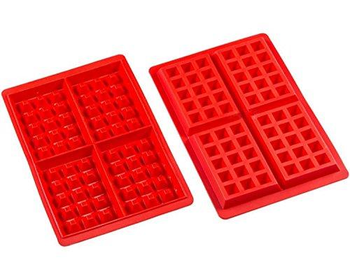 Amison, set da 2 stampi in silicone, ideali come forme per preparare cialde, tavolette di cioccolata, torte, waffel, cubetti di ghiaccio