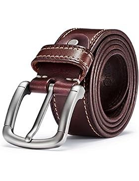 NineUp Ledergürtel,Herren leder Gürtel,Beiläufige Gürtel,zu allem passende Dorn-Verschluss Ledergürtel, modisch...