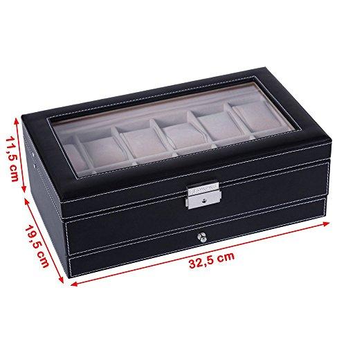 Songmics Uhrenbox  für 12 Uhren - 6