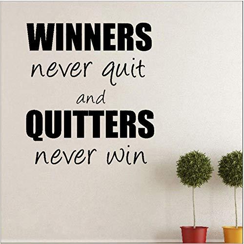 Wandaufkleber diy pvc kunst gewinner nie aufhören quitters nie gewinnen pvc wohnzimmer wandaufkleber dekor 52 cm x 58 cm (Gewinner Nur Möbel)