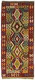 CarpetFine: Kelim Afghan Teppich 79x186 Rot - Geometrisch