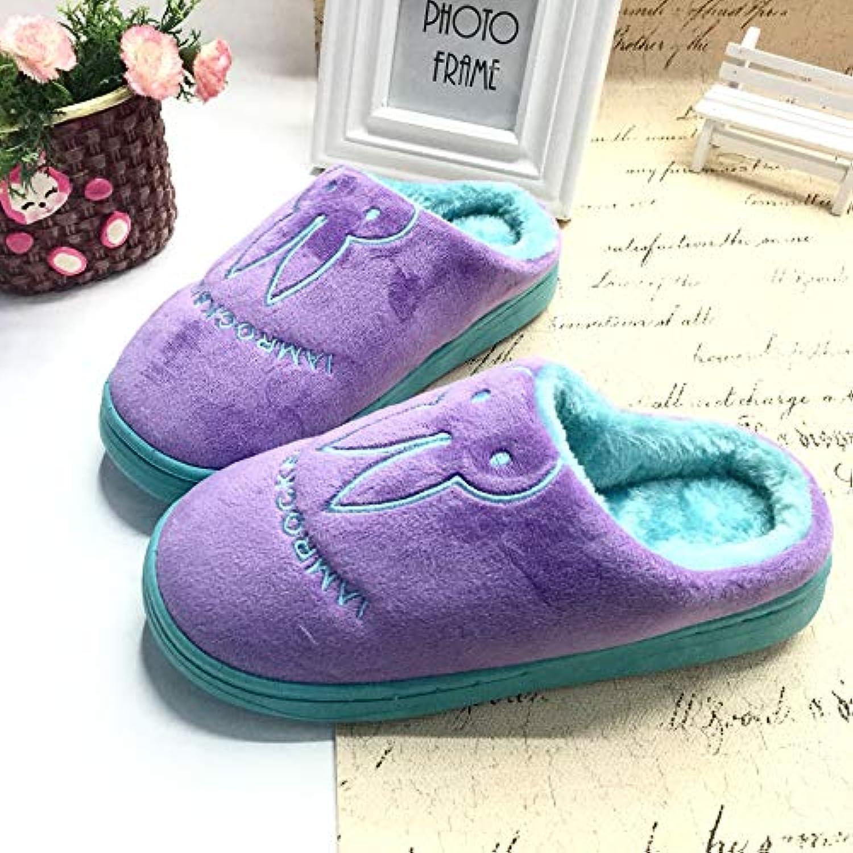 Ferza Shoes Couple de Maison d'hiver de Pantoufles de Femmes Coton des Femmes de des Femmes de Chaussons Mignons de Lapin...B07K76NQDKParent bce217