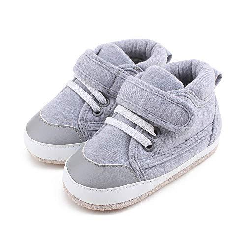 DELEBAO Babyschuhe Krabbelschuhe Lederschuhe Leder Baby Schuhe Lauflernschuhe Lederpuschen Weicher und Rutschfester Sohle für Kleinkind