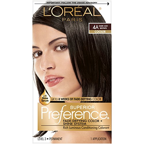 Dunkel Braun Haarfarbe Highlights (L'Oreal Paris Superior Preference Color Care System Dunkles Aschbraun)