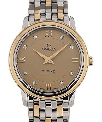 Omega De Ville Prestige 424.20.27.60.58.001 - Orologio da donna al quarzo, 27,4 mm