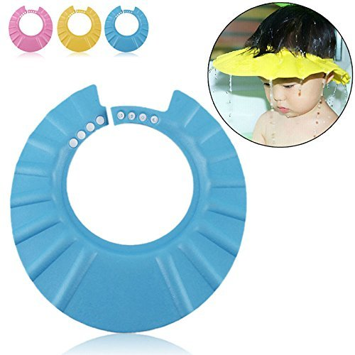 Preisvergleich Produktbild Ibepro Safe Shampoo Shower Bathing Protection Soft Cap Hat for Toddler's, Baby ,Children & Kids to Keep the Water Out of Their Eyes & Face (Blue) by IBEPRO