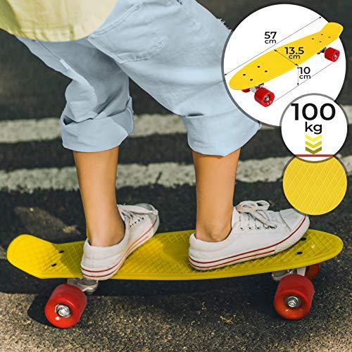 "Physionics Skateboard - 22\"" (57cm), Kugellager: ABEC 5, Farbwahl - Retro-Board, Mini Cruiser, Cruiser Board, Komplettboard"