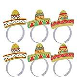 LUOEM Mexikanische Party deko Mexikanische Fiesta Dekoration Mexiko Partyzubehör Cinco de Mayo Party Zubehör, Pack von 6