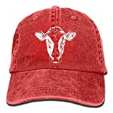 U-Only Men and Women Face of A Cow-1 Vintage Jeans Baseball Cap