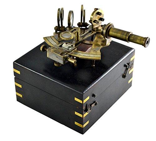 Sextant Boîte en bois 4en bateau–Sextant Octant (homonymie) Sextant nautique Mer Vintage Navigation nautique navigation Instrument de l'Astrolabe