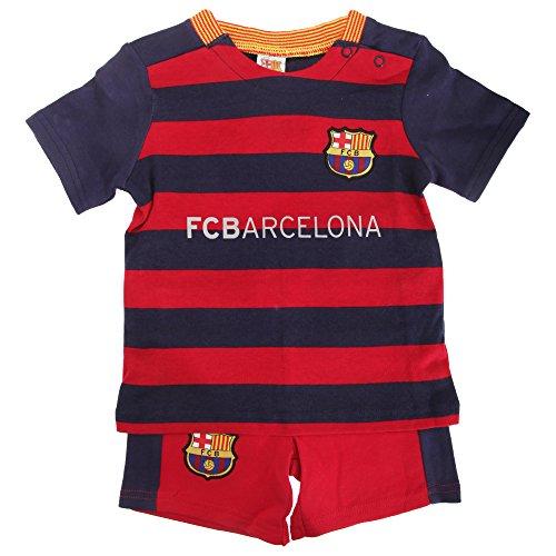 FC Barcelona Baby Fußball Set mit Club Wappen (6-9 Monate (62-68)) (Scarlet/Blau) -